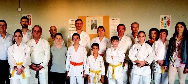 Avec le club de karate de condom